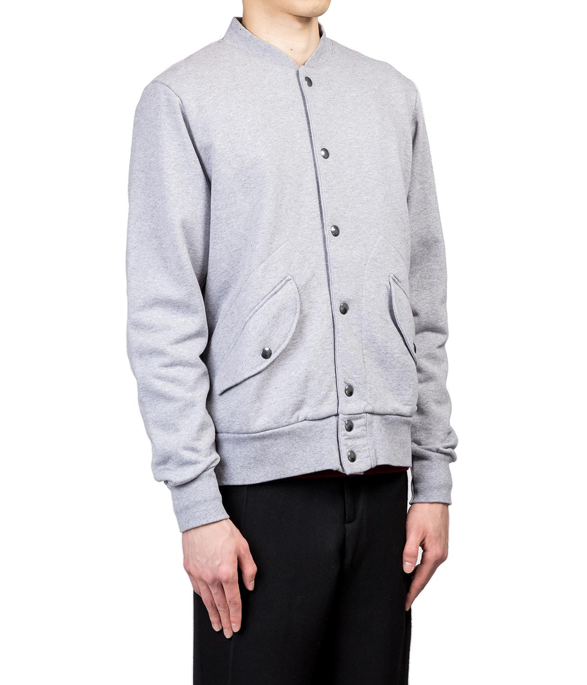 Grey 'OUR ENEMIES' Bomber Jacket