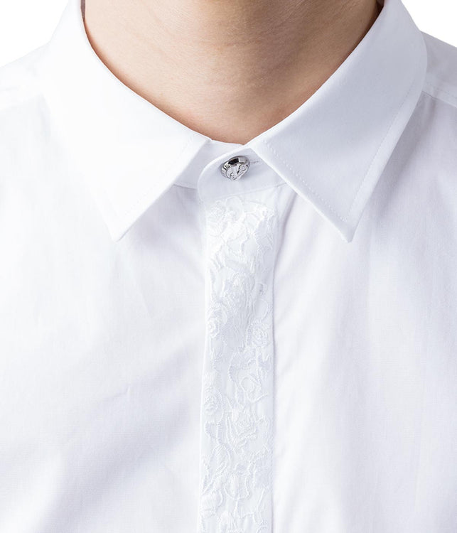 Dress Shirt with Embroidered Placket