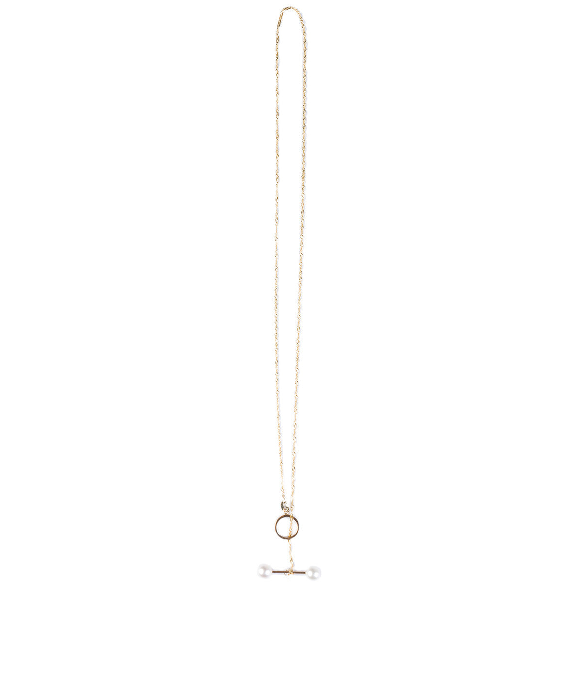 Yellow Gold Toggle Necklace