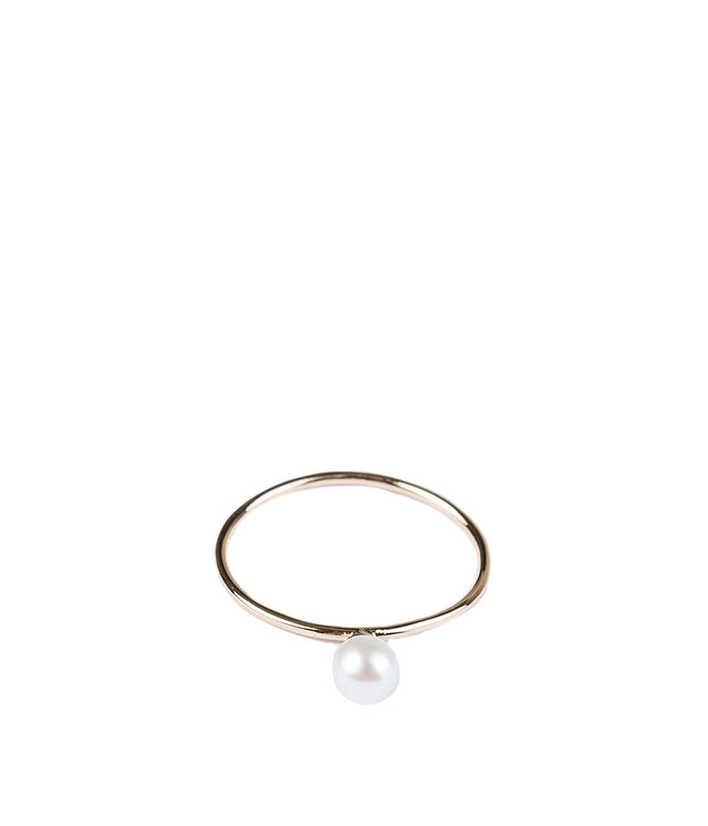 White Pearl Charm Ring