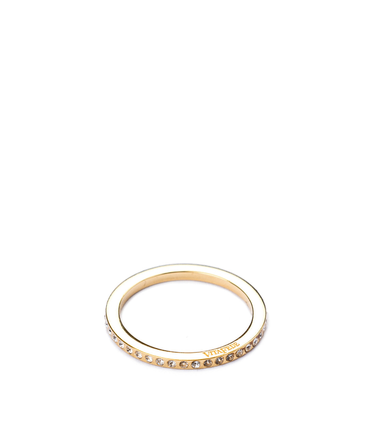 Gold Mini Thin Crystal Ring