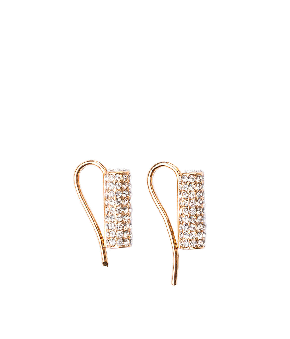 Rose Gold Mia Cylinder Crystal Clip Earring