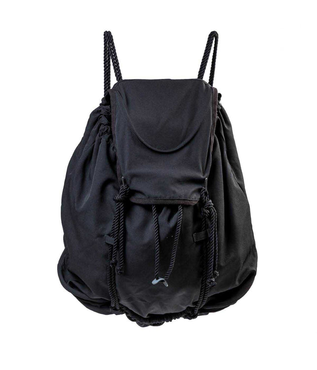 Black Rope Drawstring Backpack