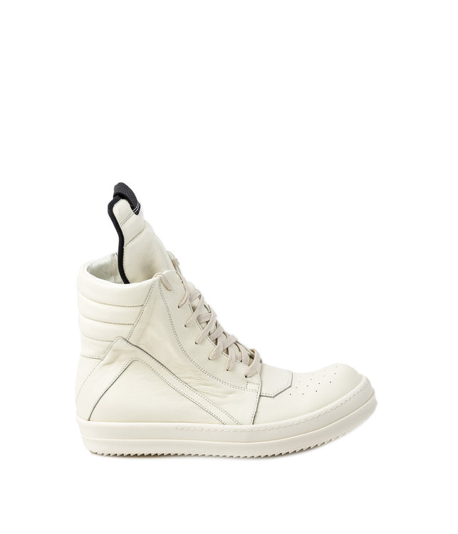 White Geo Basket Sneakers