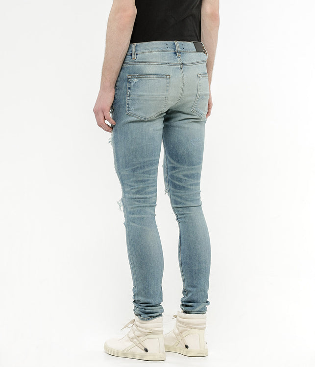 Light Blue Super Destroyed Denim Jeans
