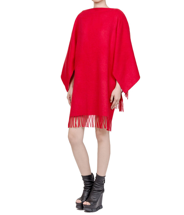 Red Oversized Fringe Tunic