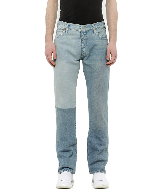 Blue Half Panel Denim Jeans