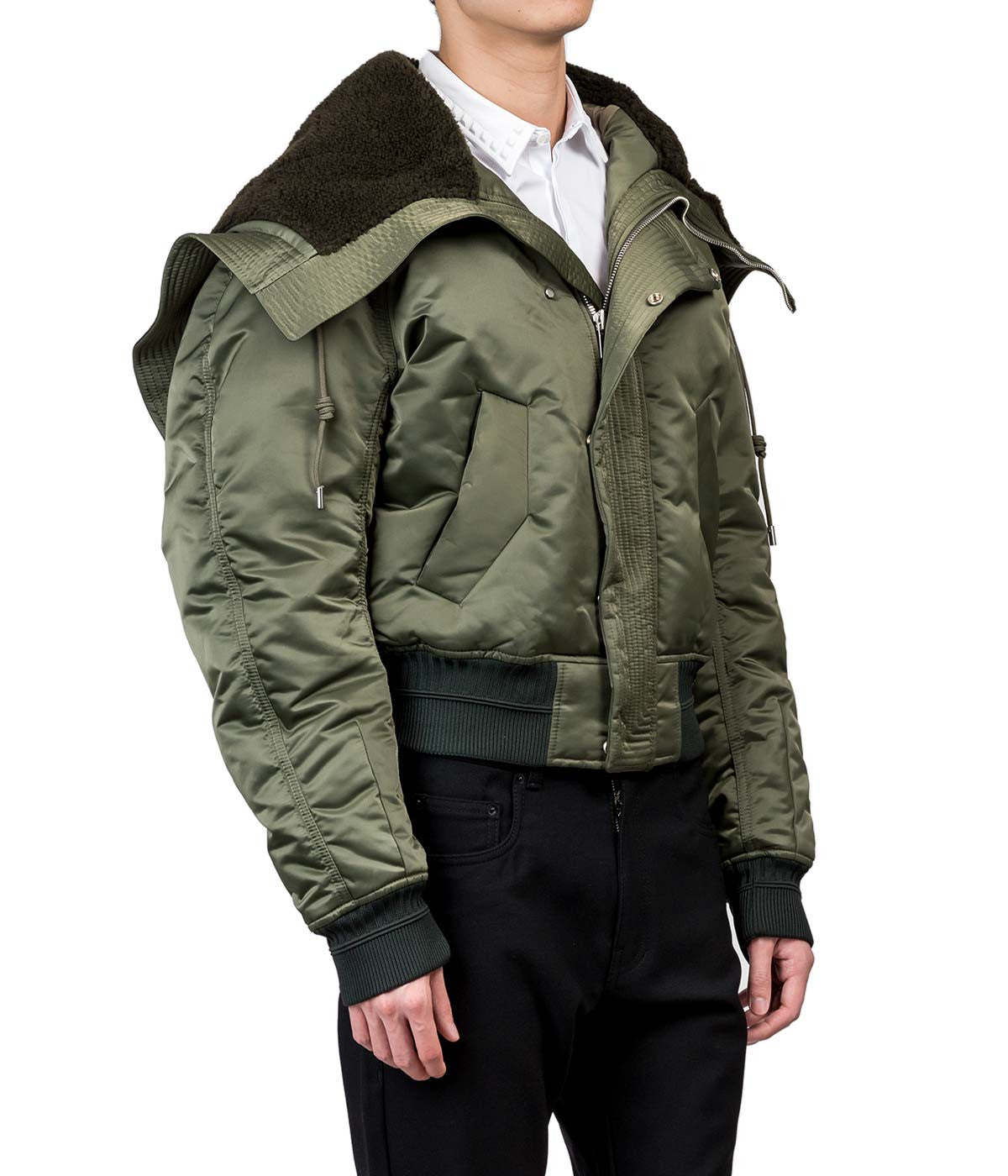 Cropped Hooded Bomber