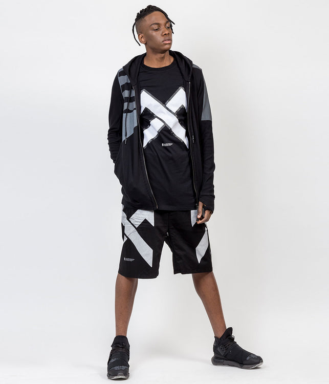 Black Terry Zip-Up Hoodie