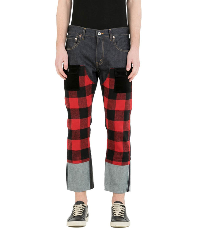Red Flannel Levi's Denim Jeans