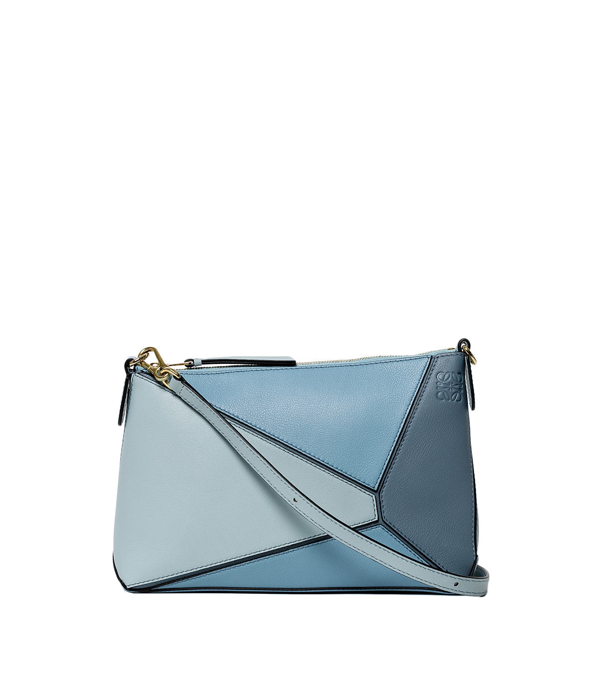 Multi Tone Stone Blue Mini Puzzle Bag