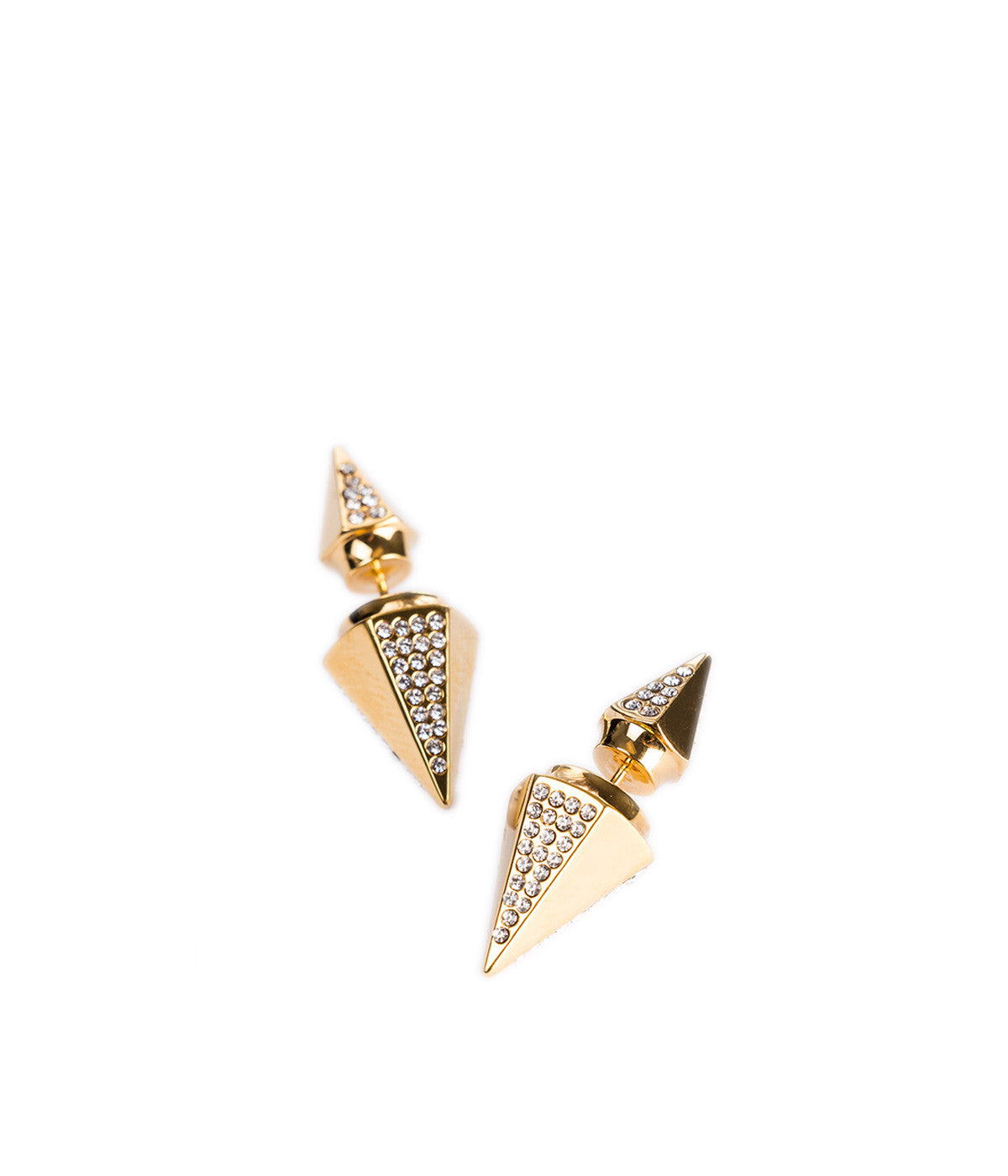 Double Titan Thea Crystal Earrings