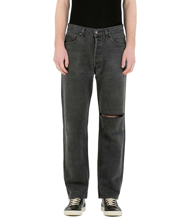 Grey Logo Denim Jeans