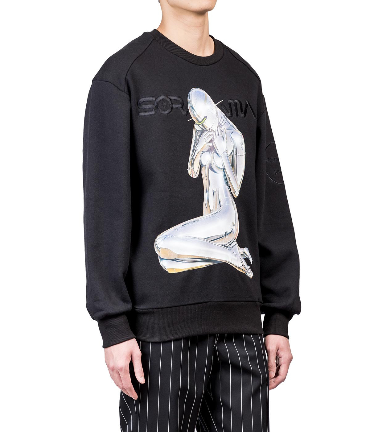 Sorayama Oversized Graphic Sweatshirt