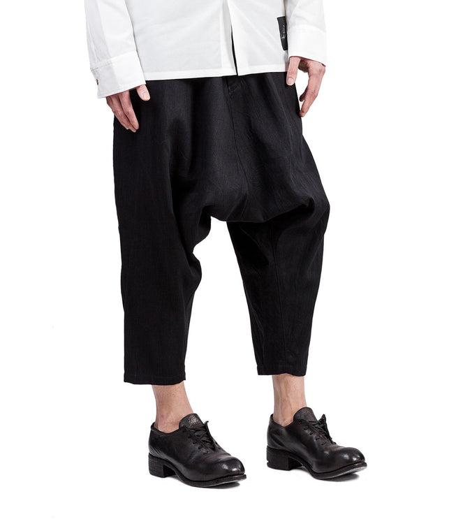 Wide Drop Crotch Trousers