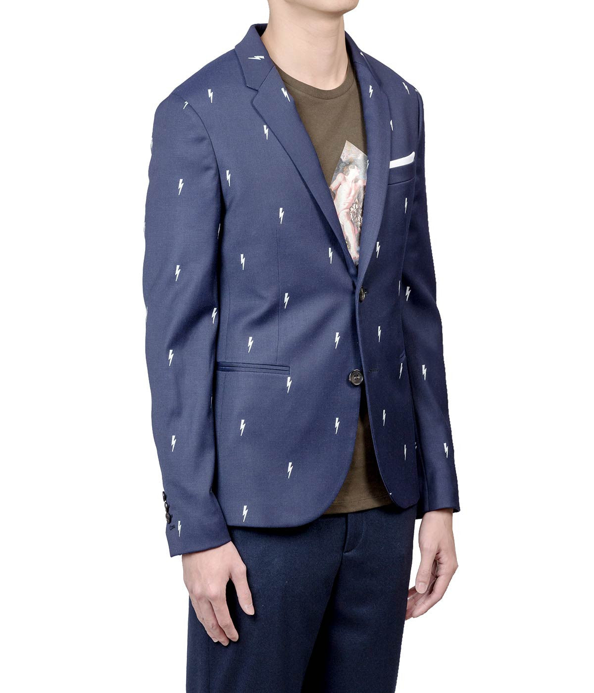 Navy Thunder Bolt Blazer