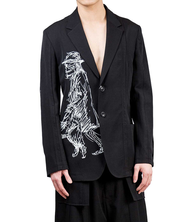 Runway Panelled Drawing Blazer