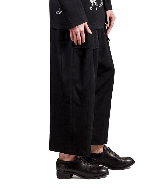 Exposed Pocket Bag Panelled Trousers