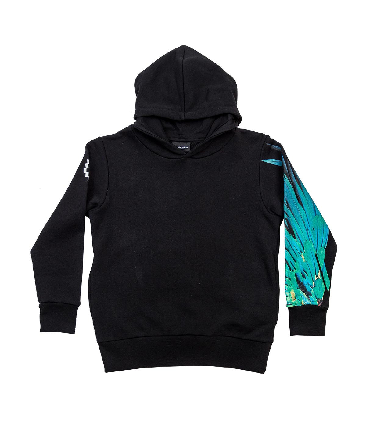 Black Graphic Sleeves Hoodie