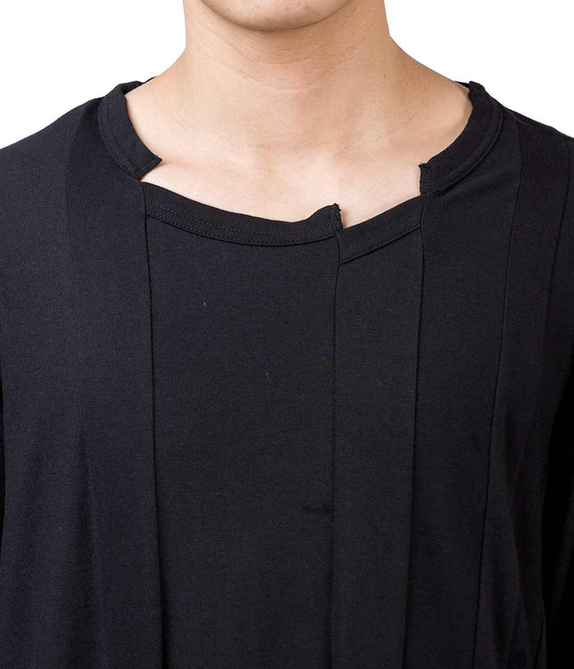 Panelled Deconstructed Long Sleeve T-Shirt