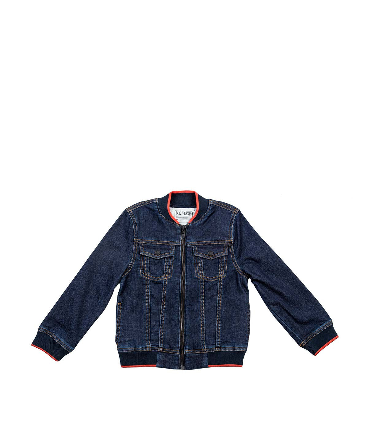 Navy Denim Bomber Jacket