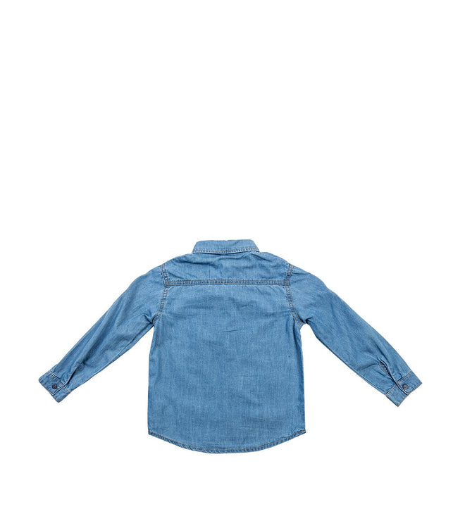 Denim Blue Patch Shirt