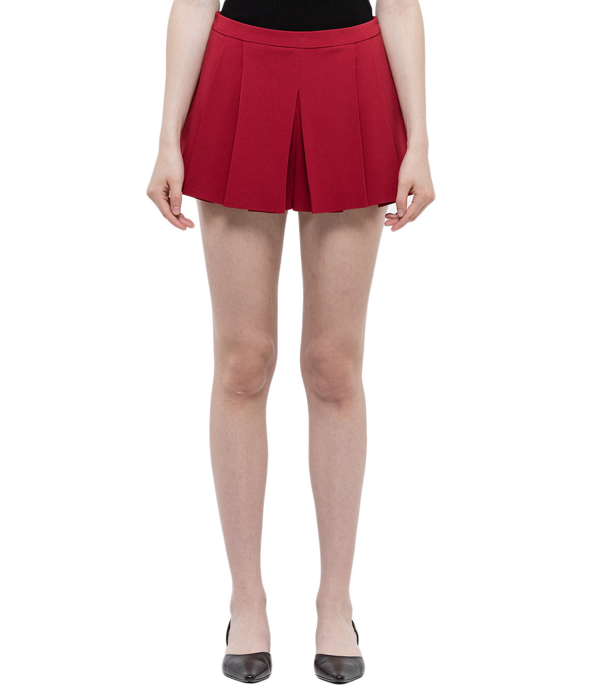 Cherry Pleated Shorts
