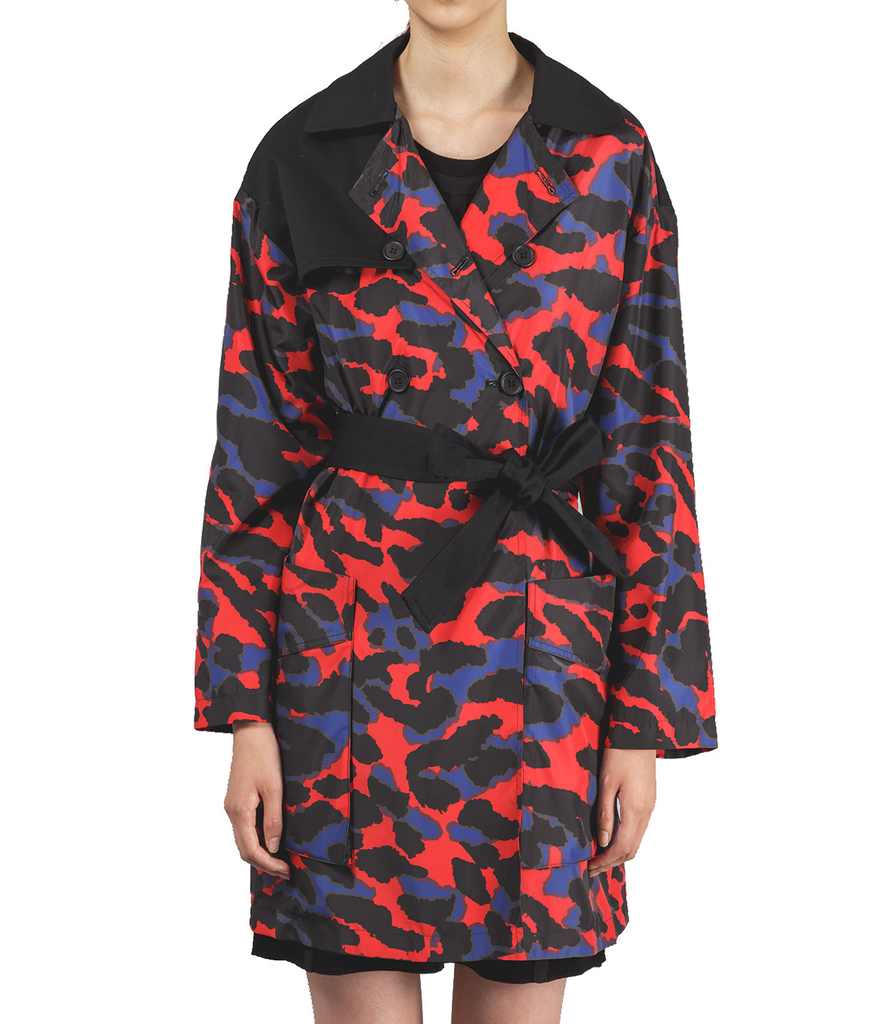 Printed Rain Trench Coat