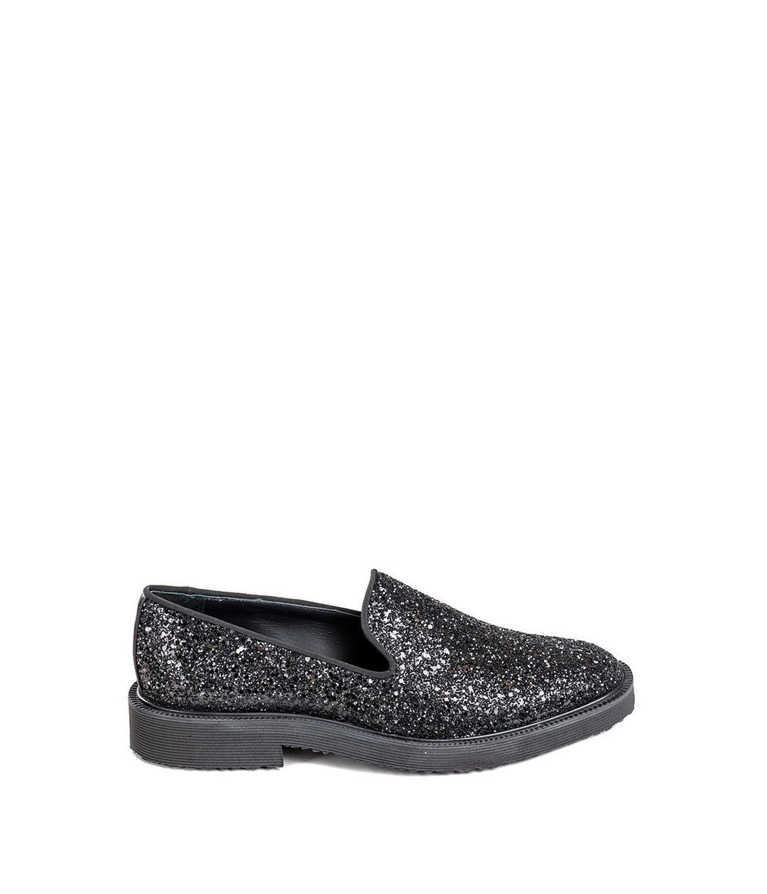 Glitter Embellished Loafers