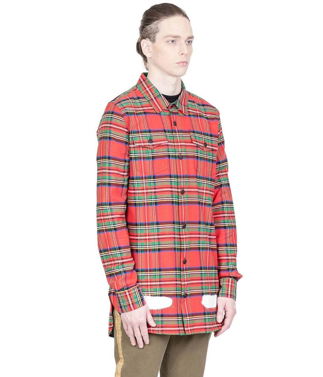 Red Tartan Flannel Shirt
