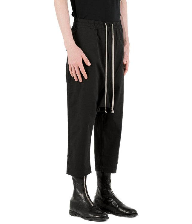 Black Coated Drawstring Pants
