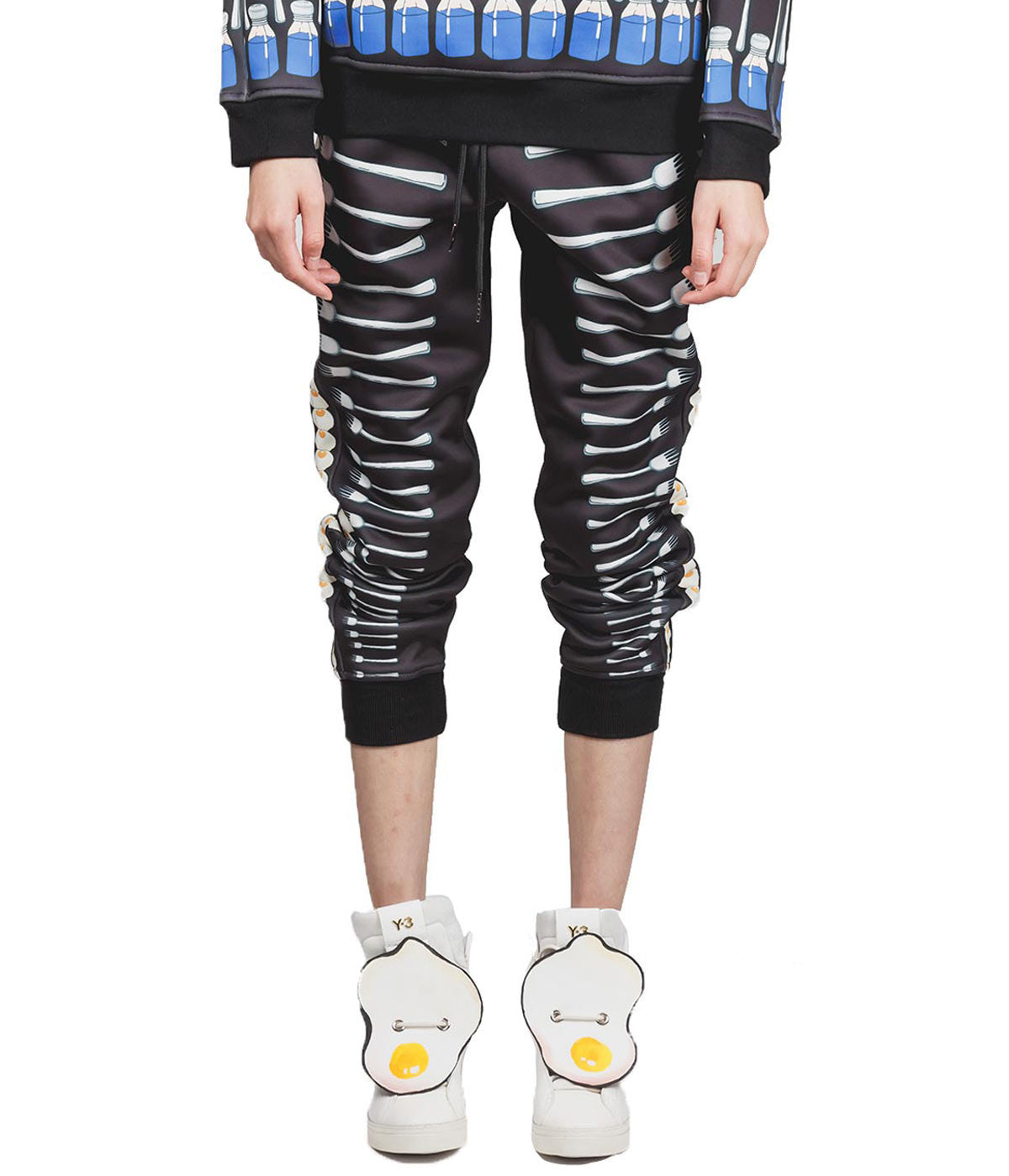 Printed Bonded Neoprene Sweatpants