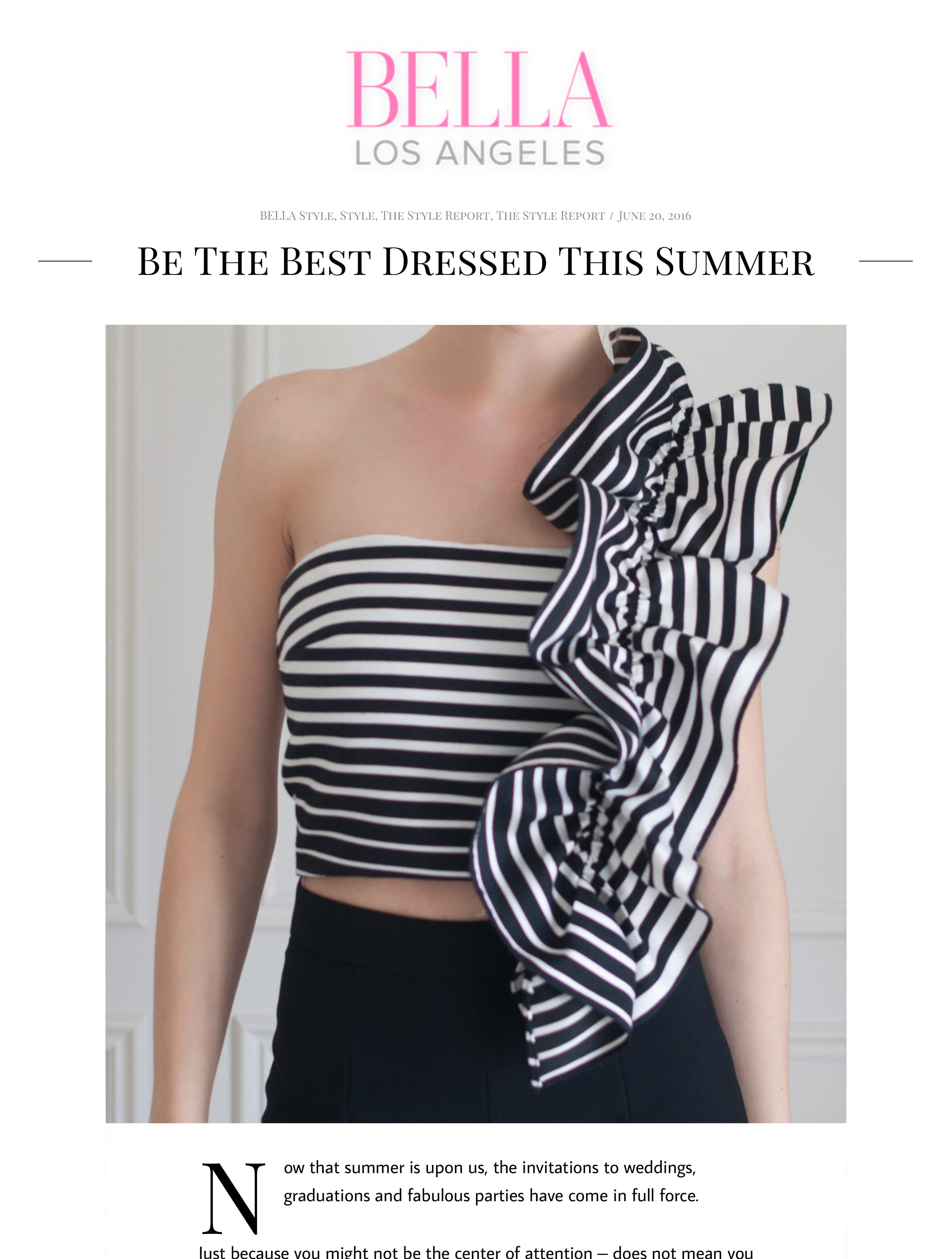 Bella LA - Be The Best Dressed This Summer