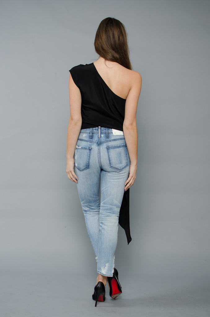 Ella One Shoulder - Black