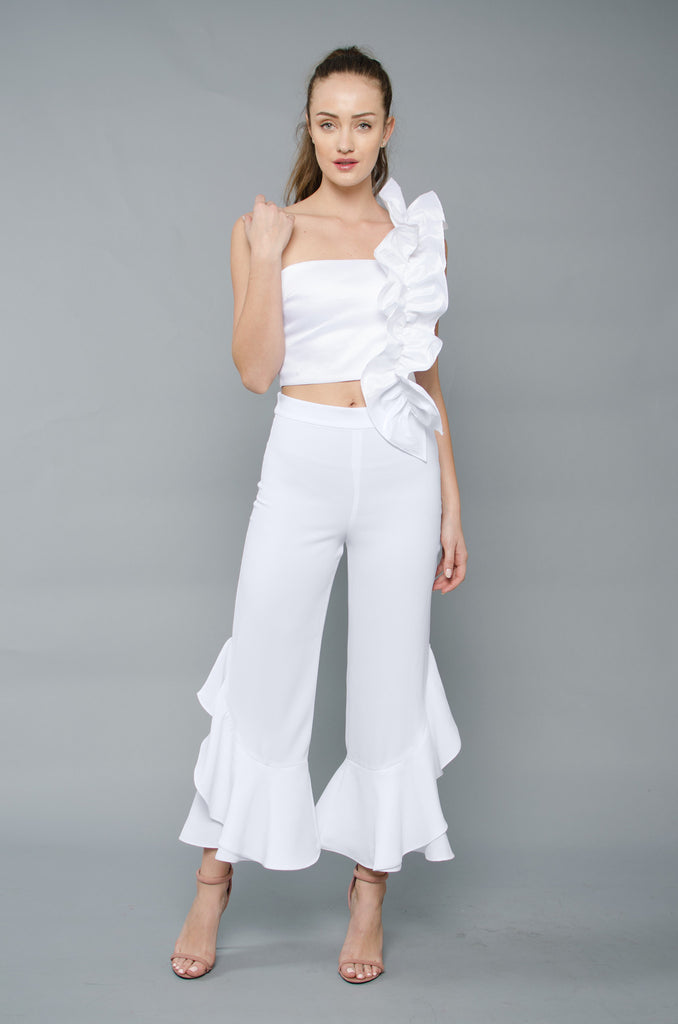 Candace Crop - White