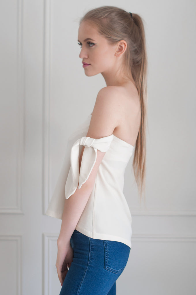 side tie womens blouse