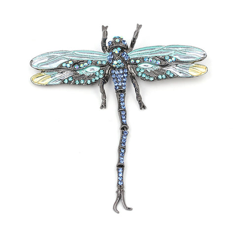 Tailed Dragonfly Brooch Pin