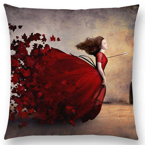 """Eccentric Portrait II"" Pillow Covers"