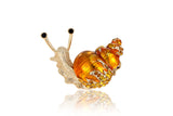 Golden Snail Brooch
