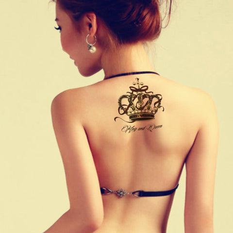 Crown Royalty Temporary Tattoo