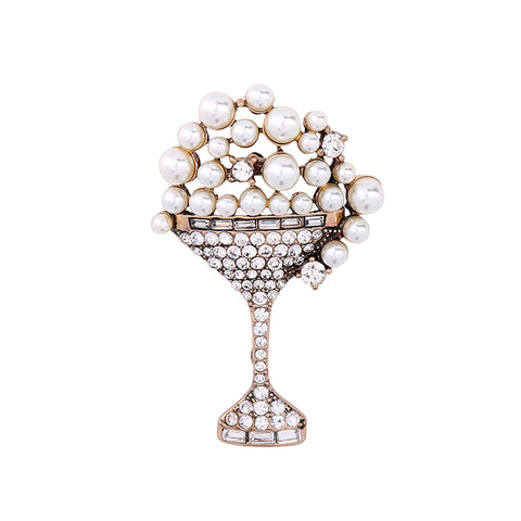 ''Glass of Pearls'' Brooch
