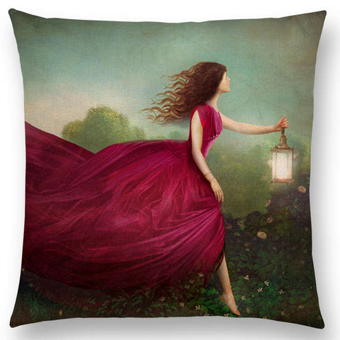"""Eccentric Portrait"" Pillow Cover"