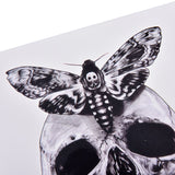 Skull Moth Temporary Tattoo