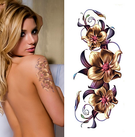 Orchid Temporary Tattoo