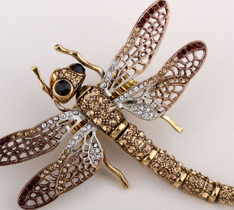 Double-Winged Dragonfly Brooch