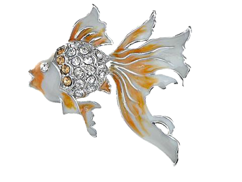 Goldfish Enamel Brooch