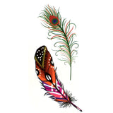 Peacock Feathers Temporary Tattoo