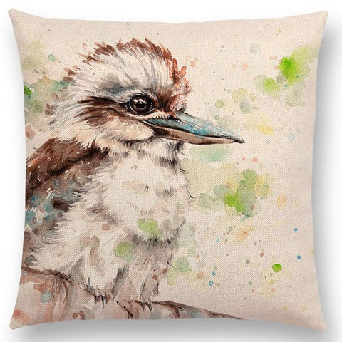 """Beautiful Animals"" Watercolor Pillow Cover"