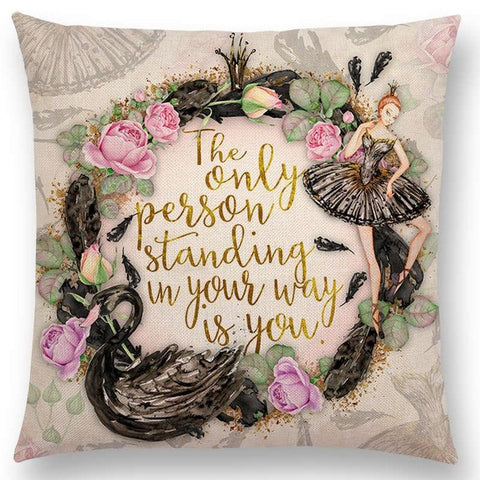 'Uplifting Quotes' Pillow Covers