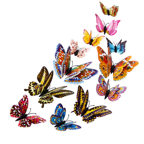 12 Butterfly Magnets